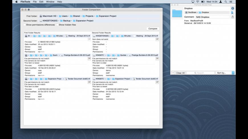 FileTools for Mac - review, screenshots