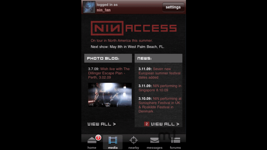 nin: access for Mac - review, screenshots