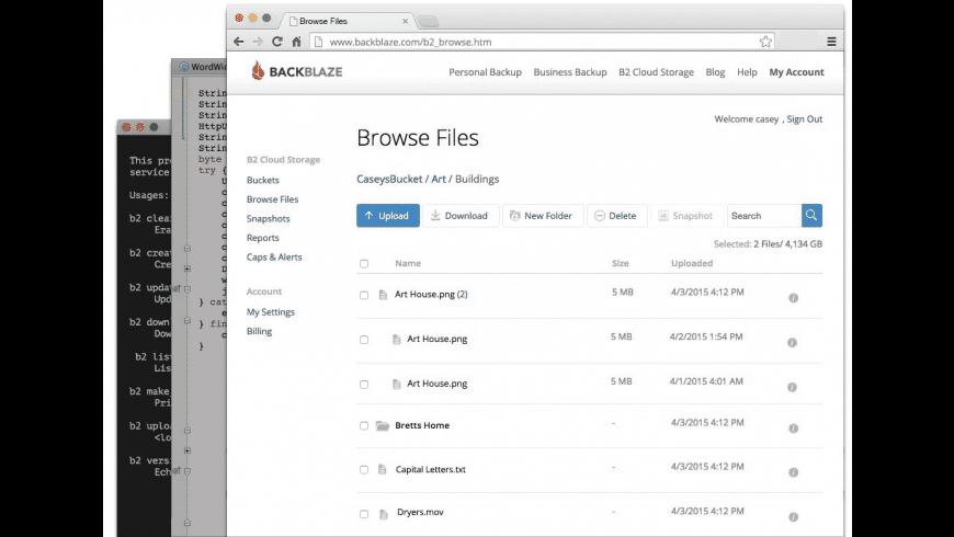 Backblaze for Mac - review, screenshots