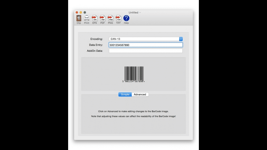 Scorpion BarCode for Mac - review, screenshots