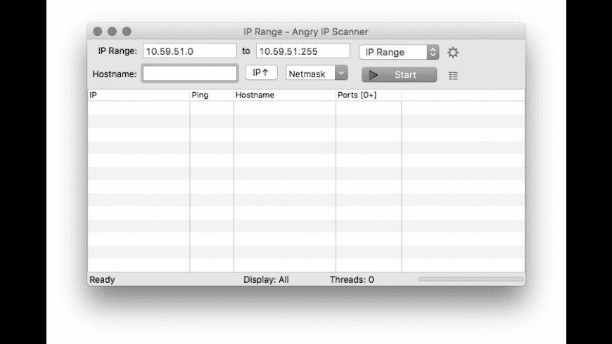 Angry IP Scanner for Mac - review, screenshots