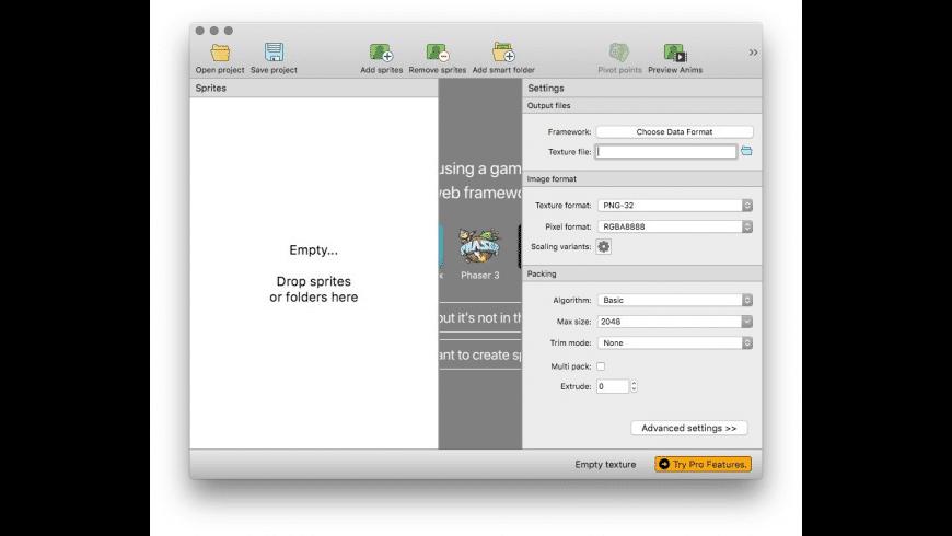TexturePacker for Mac - review, screenshots