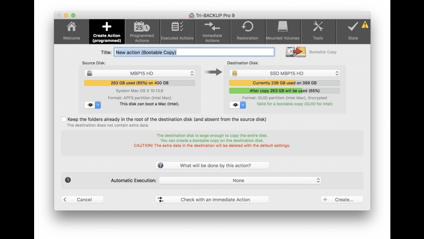 Tri-BACKUP Pro for Mac - review, screenshots