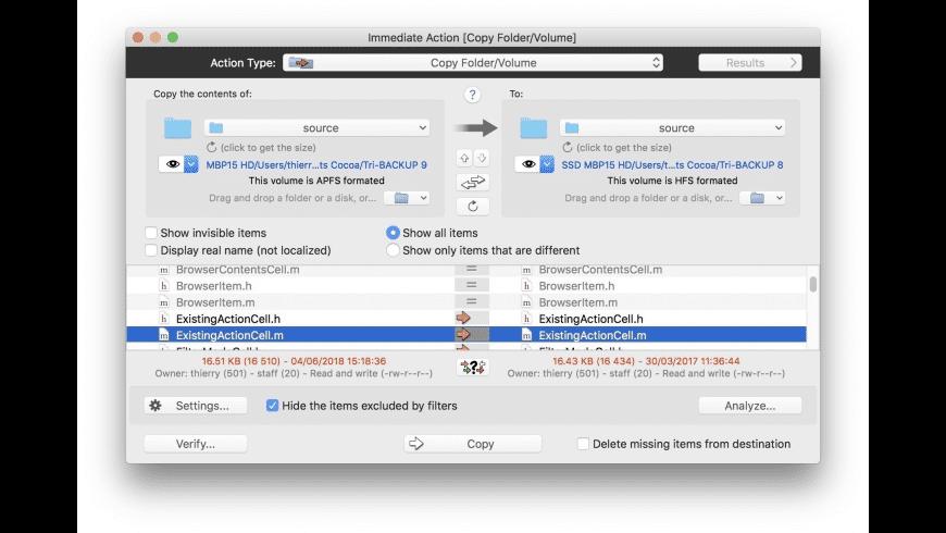 Tri-BACKUP for Mac - review, screenshots
