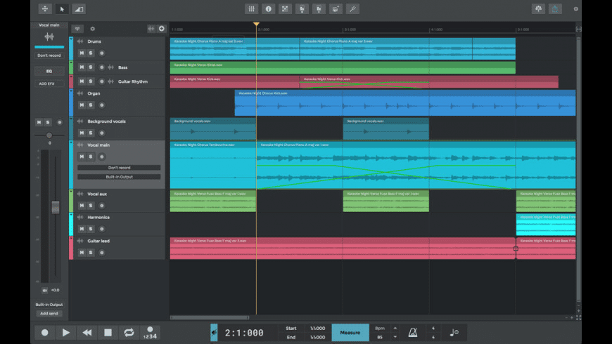 n-Track Studio for Mac - review, screenshots