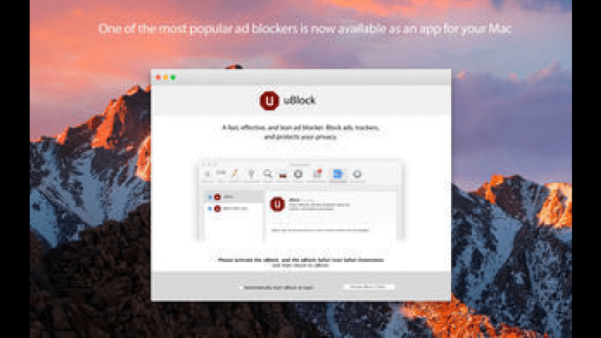 uBlock for Mac - review, screenshots