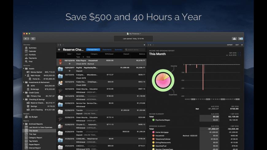 Banktivity for Mac - review, screenshots