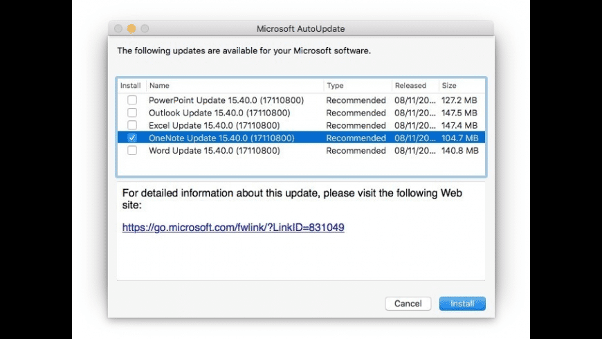 Microsoft AutoUpdate for Mac - review, screenshots