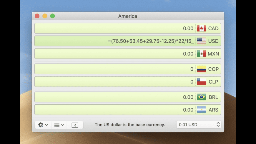 Currency Assistant for Mac - review, screenshots