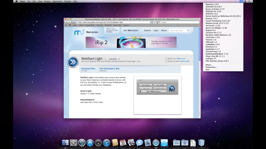 UpdateMenu for Mac - review, screenshots