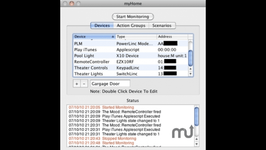 myHome for Mac - review, screenshots