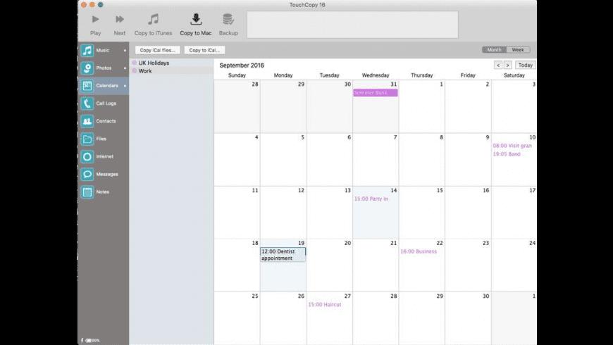 TouchCopy for Mac - review, screenshots