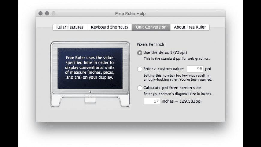 Free Ruler for Mac - review, screenshots