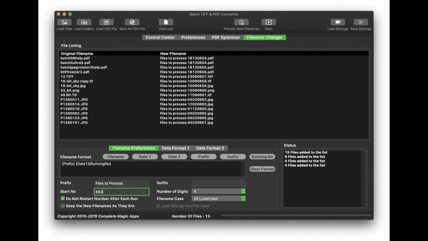 Batch TIFF & PDF Converter for Mac - review, screenshots