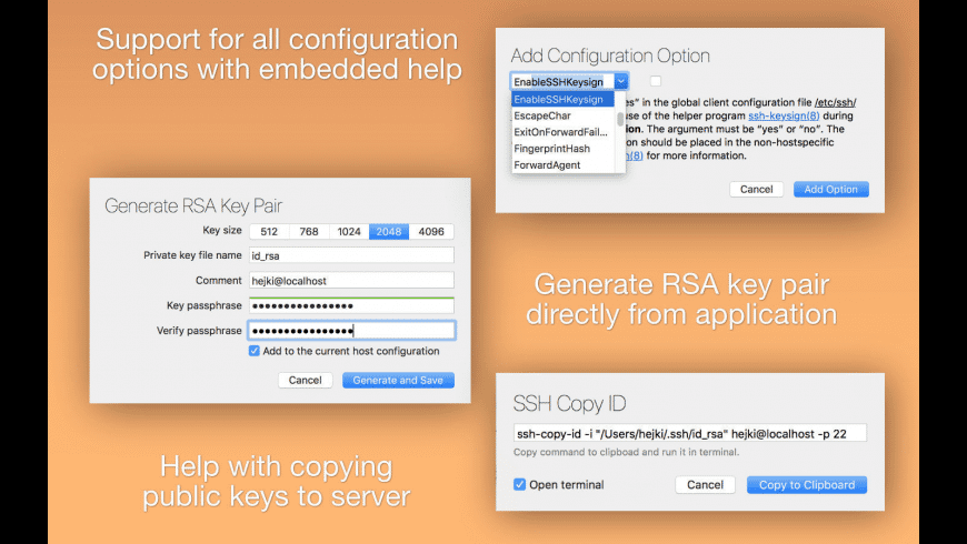 SSH Config Editor for Mac - review, screenshots