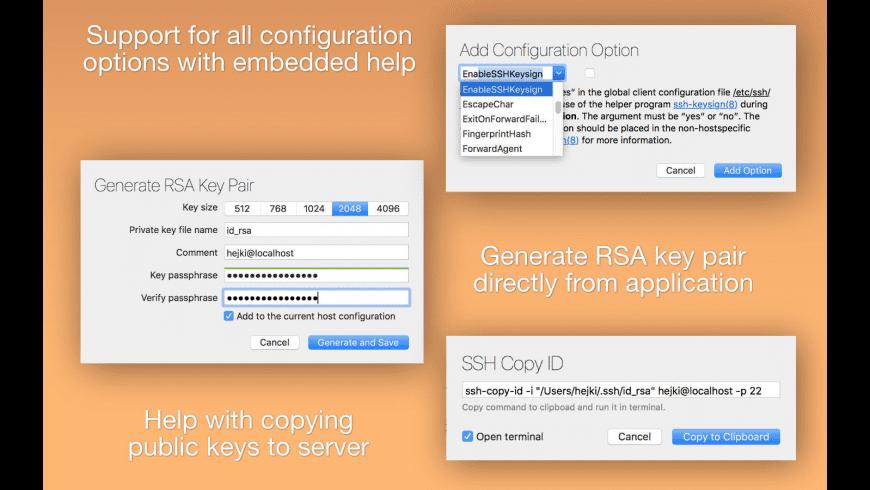 SSH Config Editor for Mac - review, screenshots