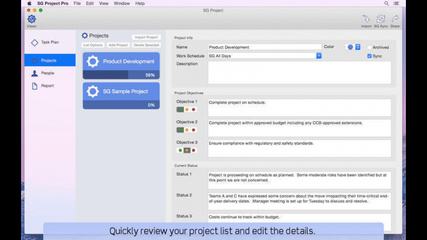 SG Project for Mac - review, screenshots