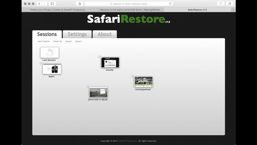 SafariRestore for Mac - review, screenshots