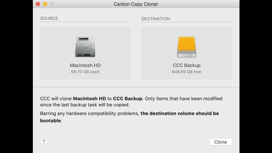 Carbon Copy Cloner for Mac - review, screenshots