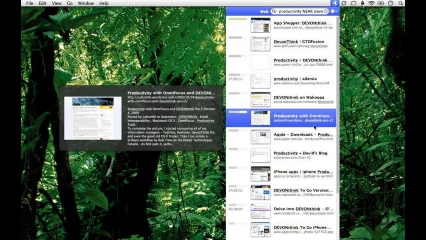 DEVONagent Express for Mac - review, screenshots