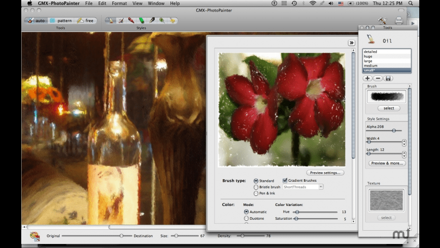 GMX-PhotoPainter for Mac - review, screenshots