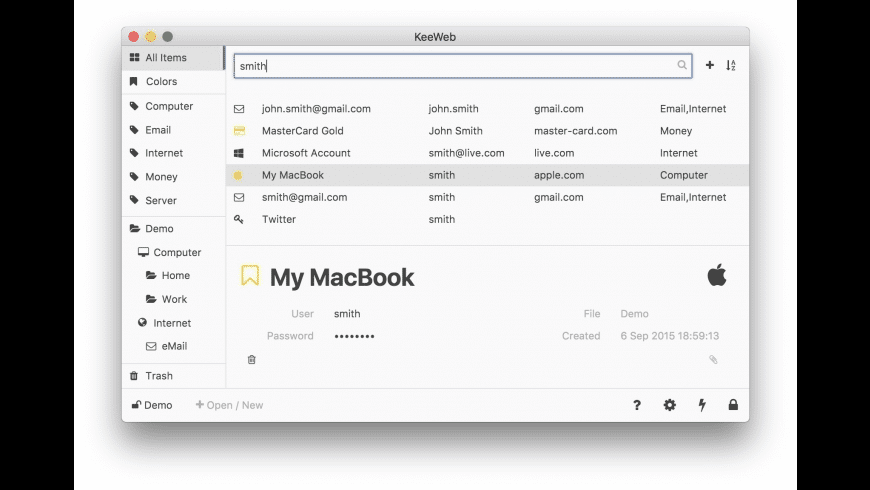 KeeWeb for Mac - review, screenshots