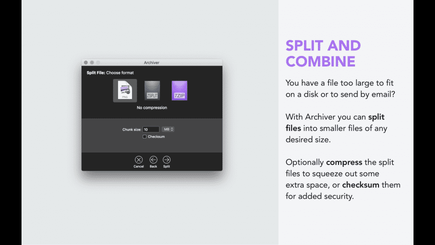 Archiver for Mac - review, screenshots