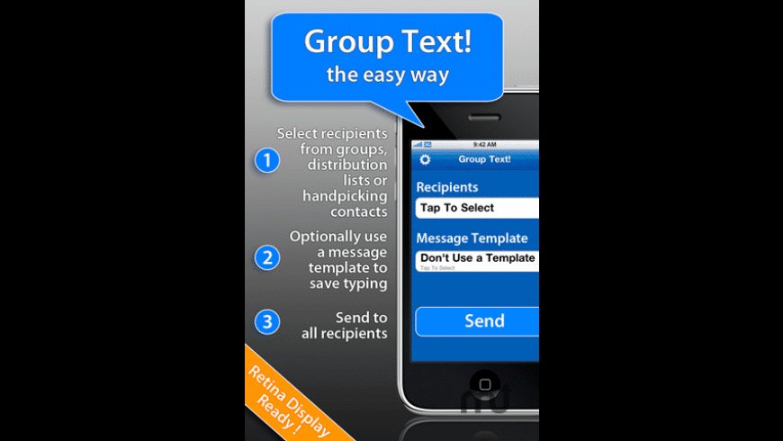 Group Text! for Mac - review, screenshots