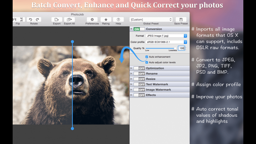 PhotoJob for Mac - review, screenshots