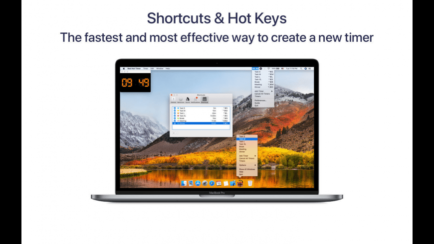 Red Hot Timer for Mac - review, screenshots