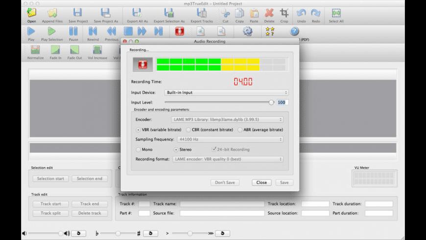 mp3TrueEdit for Mac - review, screenshots