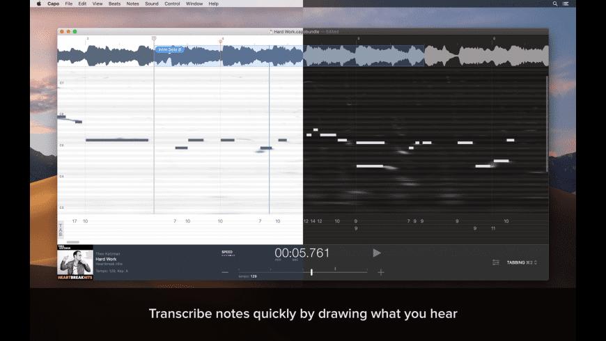 Capo for Mac - review, screenshots