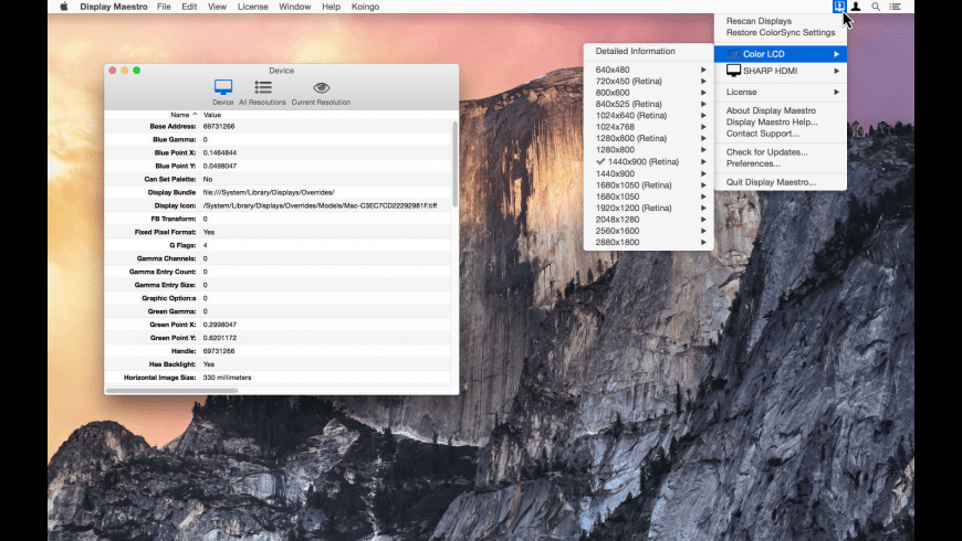 Display Maestro for Mac - review, screenshots