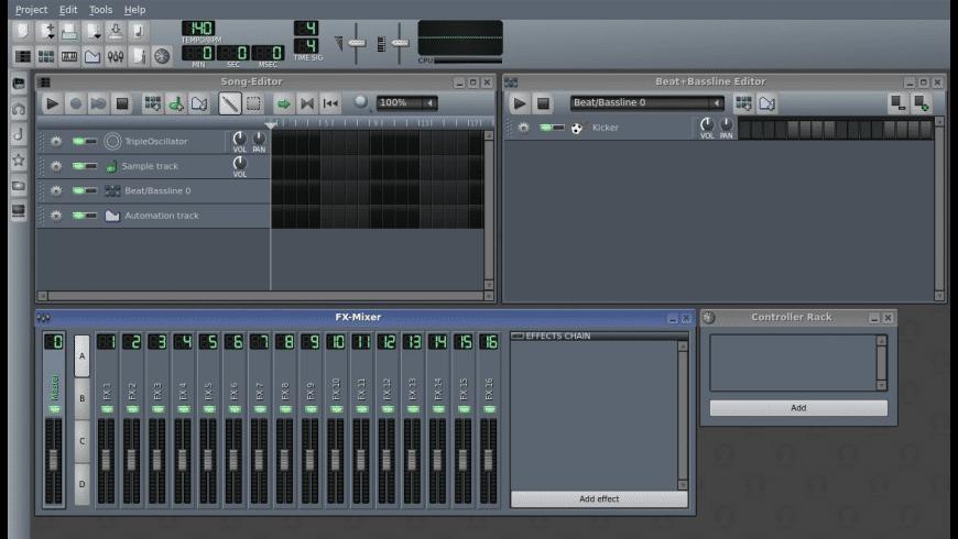 LMMS for Mac - review, screenshots