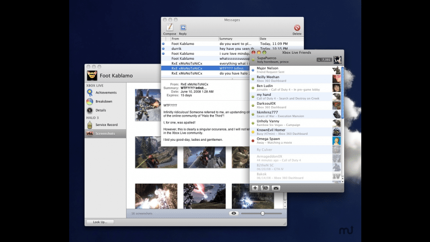Xbox Live Friends for Mac - review, screenshots