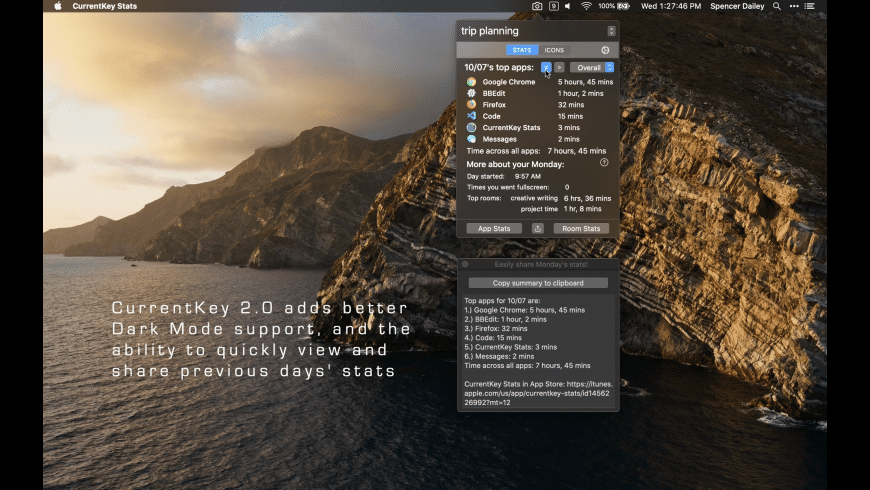 CurrentKey Stats for Mac - review, screenshots
