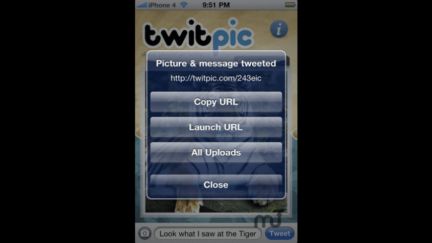 TwitPic Uploader for Mac - review, screenshots