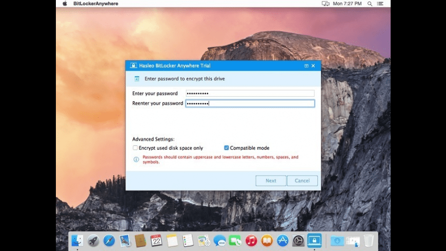 Hasleo BitLocker Anywhere for Mac - review, screenshots