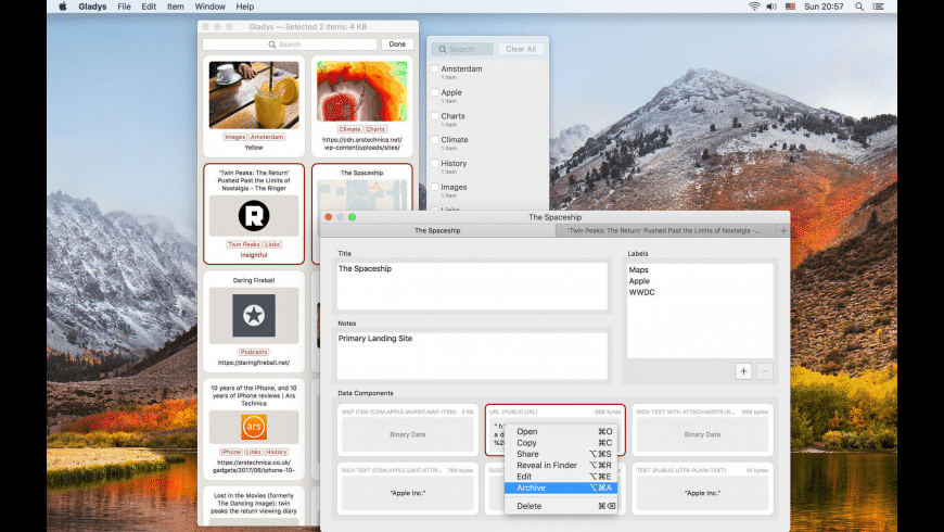 Gladys for Mac - review, screenshots
