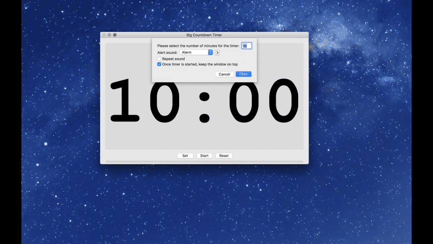 Big Countdown Timer for Mac - review, screenshots