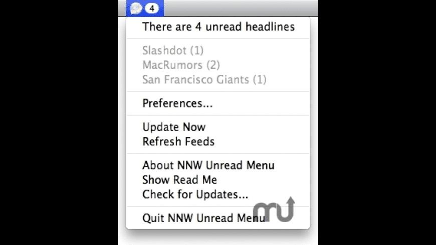 NNW Unread Menu for Mac - review, screenshots