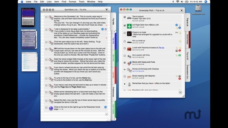 Listz for Mac - review, screenshots