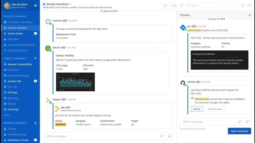 Mattermost for Mac - review, screenshots