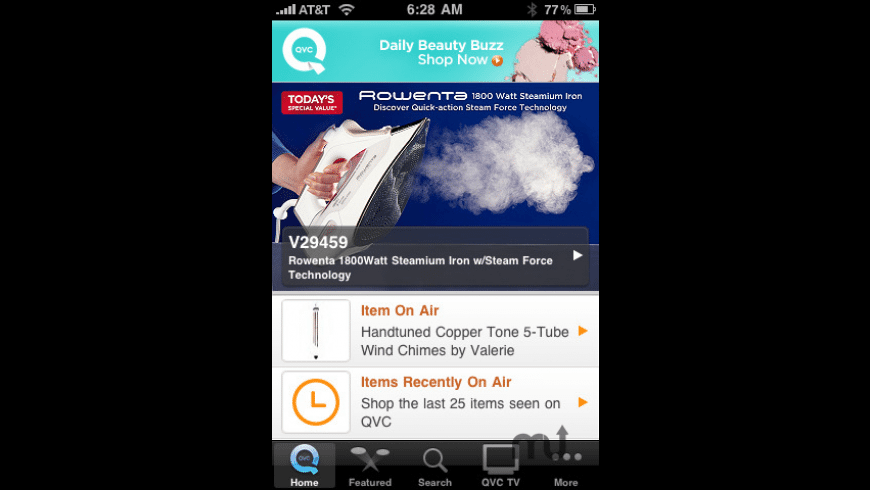 QVC iPhone App for Mac - review, screenshots