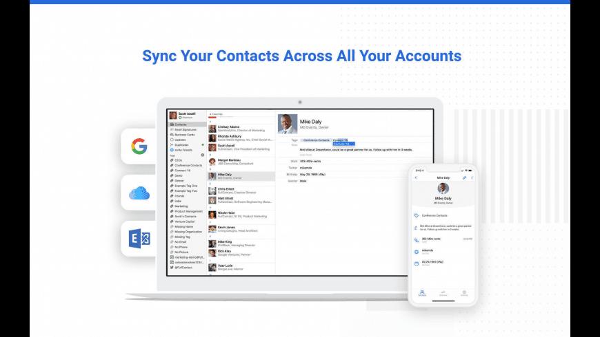 Contacts+ for Mac - review, screenshots