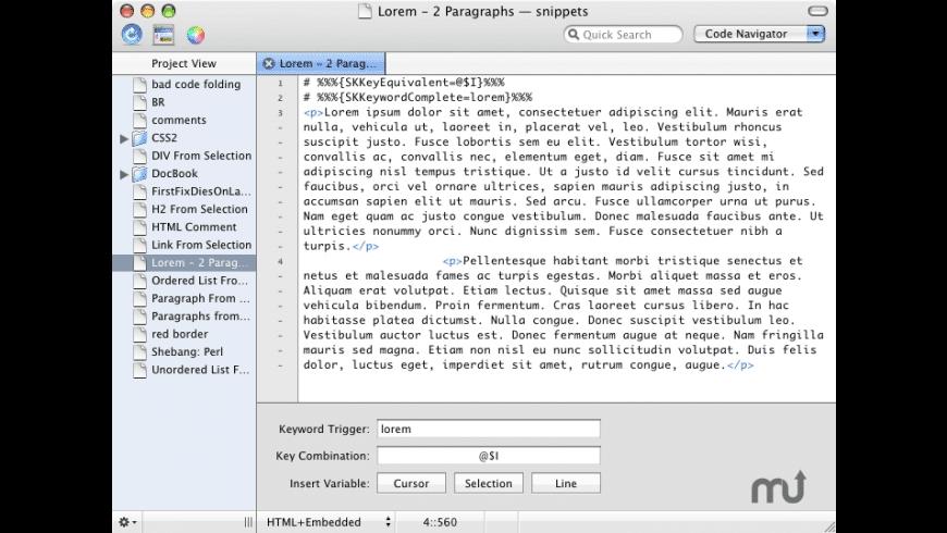 skEdit for Mac - review, screenshots