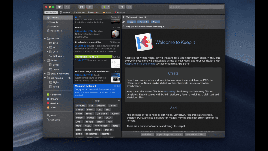Keep It for Mac - review, screenshots