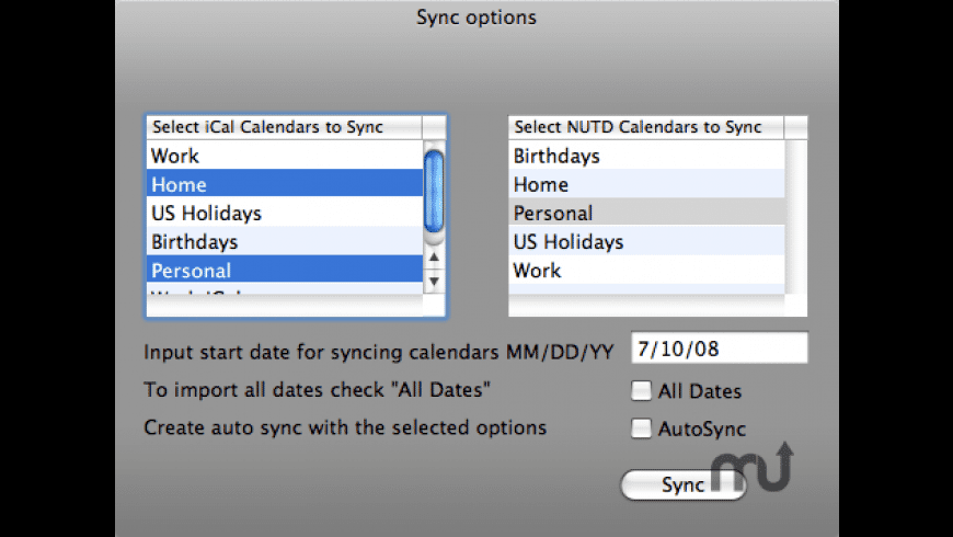 iCal Sync Now Up-To-Date for Mac - review, screenshots