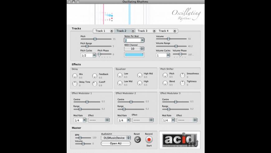 Oscillating Rhythms for Mac - review, screenshots