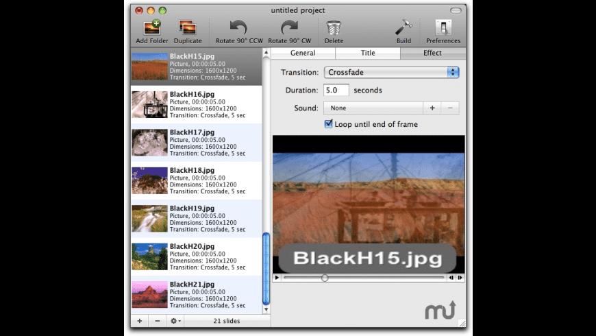Slideshow Magic for Mac - review, screenshots